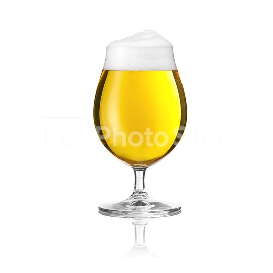 Biertulpe beer glass with beer foam alcohol golden crown on a white background  : Stock Photo or Stock Video Download rcfotostock photos, images and assets rcfotostock   RC-Photo-Stock.: