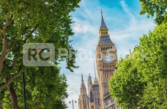 Big Ben and Houses of parliament at summer in London, UK  : Stock Photo or Stock Video Download rcfotostock photos, images and assets rcfotostock   RC-Photo-Stock.:
