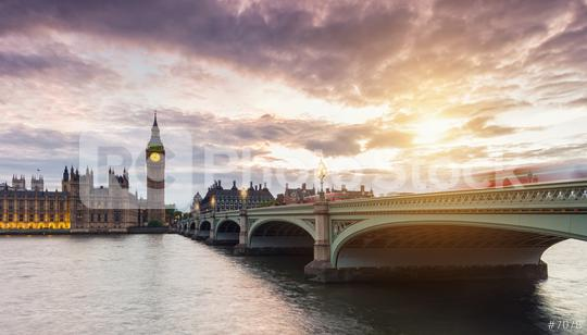 Big Ben and Westminster Bridge at sunset with dramatic cloudy sky, London, UK  : Stock Photo or Stock Video Download rcfotostock photos, images and assets rcfotostock | RC-Photo-Stock.: