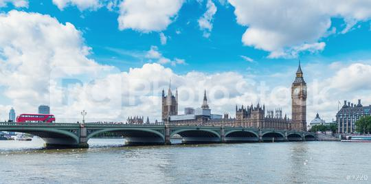 Big Ben and Westminsterwith red double decker bus, London, UK  : Stock Photo or Stock Video Download rcfotostock photos, images and assets rcfotostock | RC-Photo-Stock.: