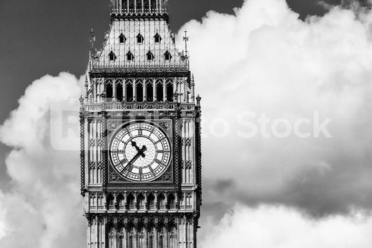 Big Ben closeup in London in black and white  : Stock Photo or Stock Video Download rcfotostock photos, images and assets rcfotostock | RC-Photo-Stock.:
