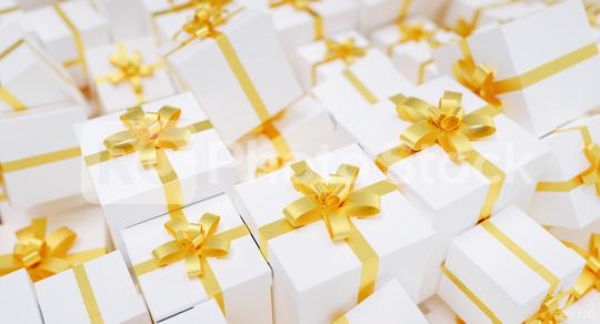 Big pile of golden Christmas gifts  : Stock Photo or Stock Video Download rcfotostock photos, images and assets rcfotostock | RC-Photo-Stock.: