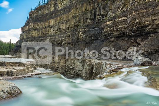 Bighorn canyon with crescent falls alberta canada  : Stock Photo or Stock Video Download rcfotostock photos, images and assets rcfotostock | RC-Photo-Stock.: