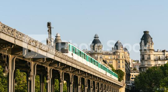 Bir-Hakeim bridge with metro train in paris  : Stock Photo or Stock Video Download rcfotostock photos, images and assets rcfotostock | RC-Photo-Stock.:
