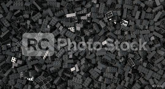 black toy bricks background - concept image - 3D Rendering Illustration  : Stock Photo or Stock Video Download rcfotostock photos, images and assets rcfotostock | RC-Photo-Stock.: