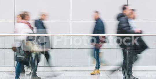 blurred anonymous people walking in a corridor  : Stock Photo or Stock Video Download rcfotostock photos, images and assets rcfotostock | RC-Photo-Stock.: