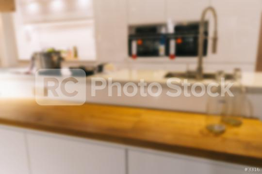 Blurred background,Modern kitchen with bokeh light, vintage filter  : Stock Photo or Stock Video Download rcfotostock photos, images and assets rcfotostock   RC-Photo-Stock.: