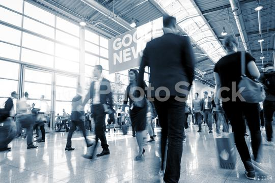 Blurred business people at a European Trade Fair  : Stock Photo or Stock Video Download rcfotostock photos, images and assets rcfotostock   RC-Photo-Stock.:
