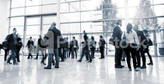Blurred business people at a European Trade Fair  : Stock Photo or Stock Video Download rcfotostock photos, images and assets rcfotostock | RC-Photo-Stock.: