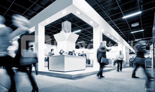 Blurred business people at a Exhibition Stand  : Stock Photo or Stock Video Download rcfotostock photos, images and assets rcfotostock | RC-Photo-Stock.:
