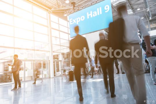 Blurred business people at a expo hall  : Stock Photo or Stock Video Download rcfotostock photos, images and assets rcfotostock | RC-Photo-Stock.: