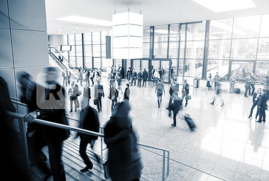 Blurred business people at a modern trade fair mall  : Stock Photo or Stock Video Download rcfotostock photos, images and assets rcfotostock | RC-Photo-Stock.: