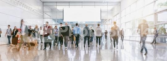 blurred business people at a trade fair, banner size  : Stock Photo or Stock Video Download rcfotostock photos, images and assets rcfotostock | RC-Photo-Stock.: