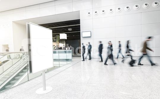 blurred business people at a trade fair corridor  : Stock Photo or Stock Video Download rcfotostock photos, images and assets rcfotostock   RC-Photo-Stock.: