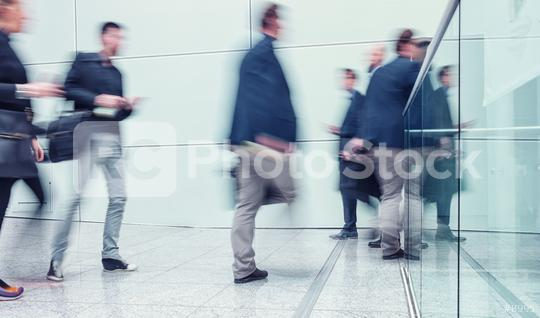 blurred Business people walking in a modern corridor  : Stock Photo or Stock Video Download rcfotostock photos, images and assets rcfotostock | RC-Photo-Stock.: