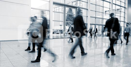blurred business people walking in a modern hall at a International Trade Fair  : Stock Photo or Stock Video Download rcfotostock photos, images and assets rcfotostock | RC-Photo-Stock.: