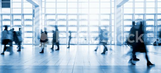 blurred commuters walking at a modern floor  : Stock Photo or Stock Video Download rcfotostock photos, images and assets rcfotostock | RC-Photo-Stock.: