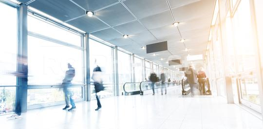 blurred congress visitors in a modern corridor  : Stock Photo or Stock Video Download rcfotostock photos, images and assets rcfotostock | RC-Photo-Stock.: