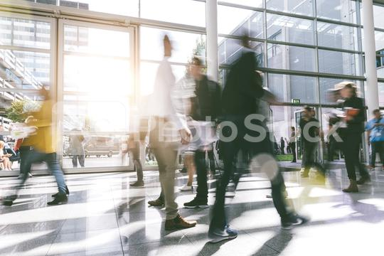 blurred people at a trade fair hall  : Stock Photo or Stock Video Download rcfotostock photos, images and assets rcfotostock | RC-Photo-Stock.:
