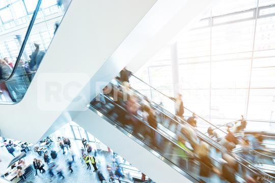 blurred people at a trade fair staircase  : Stock Photo or Stock Video Download rcfotostock photos, images and assets rcfotostock | RC-Photo-Stock.: