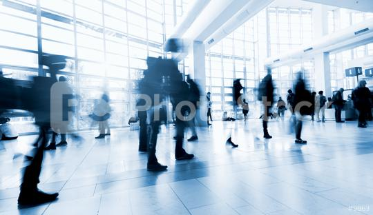 Blurred people in the lobby of a modern Exhibition center  : Stock Photo or Stock Video Download rcfotostock photos, images and assets rcfotostock | RC-Photo-Stock.: