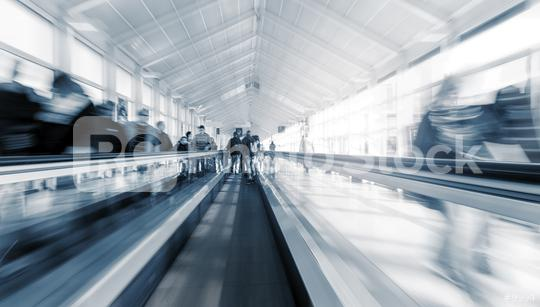 Blurred people using a staircase at a airport  : Stock Photo or Stock Video Download rcfotostock photos, images and assets rcfotostock | RC-Photo-Stock.: