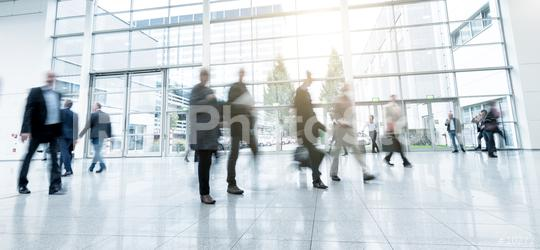 blurred people walking in a modern hall of a Exhibition  : Stock Photo or Stock Video Download rcfotostock photos, images and assets rcfotostock | RC-Photo-Stock.: