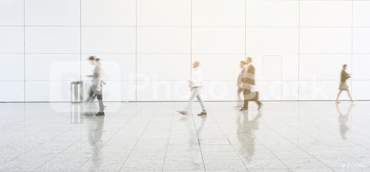 Blurred people walking on a corridor at a exhibition  : Stock Photo or Stock Video Download rcfotostock photos, images and assets rcfotostock | RC-Photo-Stock.: