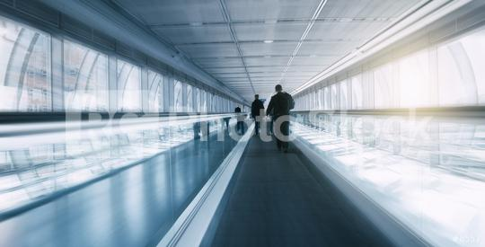 Blurred skywalk with Commuters  : Stock Photo or Stock Video Download rcfotostock photos, images and assets rcfotostock | RC-Photo-Stock.: