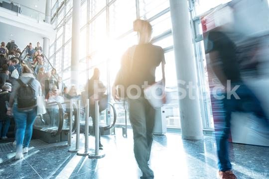 Blurred trade fair visitors  : Stock Photo or Stock Video Download rcfotostock photos, images and assets rcfotostock | RC-Photo-Stock.: