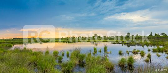 Bog lake with sunset in Belgium Veen landscape  : Stock Photo or Stock Video Download rcfotostock photos, images and assets rcfotostock | RC-Photo-Stock.: