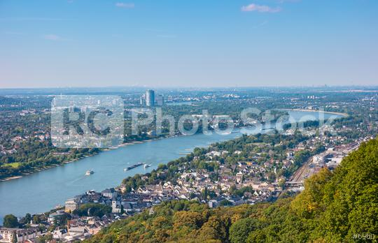 Bonn at the rhine river view from the Drachenfels  : Stock Photo or Stock Video Download rcfotostock photos, images and assets rcfotostock | RC-Photo-Stock.: