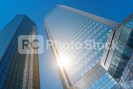 Bottom view of modern skyscrapers in business district   : Stock Photo or Stock Video Download rcfotostock photos, images and assets rcfotostock | RC-Photo-Stock.: