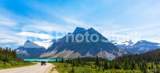 Bow Lake road at the rocky mountains in banff canada   : Stock Photo or Stock Video Download rcfotostock photos, images and assets rcfotostock | RC-Photo-Stock.: