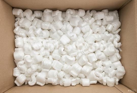 box packaging with polystyrene peanuts inside  : Stock Photo or Stock Video Download rcfotostock photos, images and assets rcfotostock   RC-Photo-Stock.: