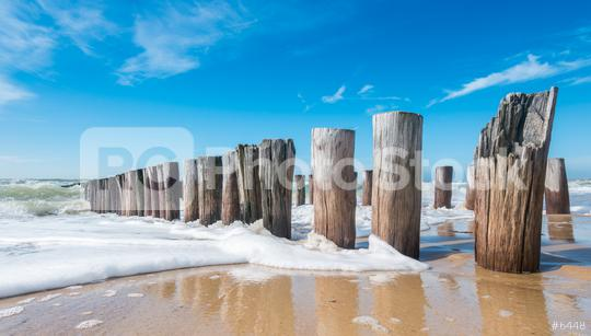 Breakwaters in waves on the beach at the north sea in Domburg Holland  : Stock Photo or Stock Video Download rcfotostock photos, images and assets rcfotostock | RC-Photo-Stock.: