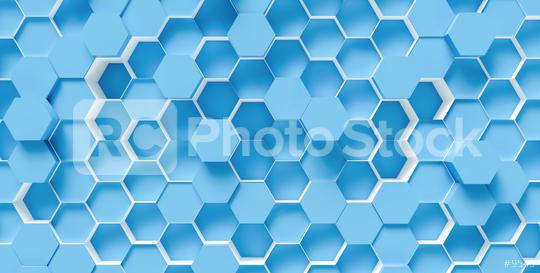 bright blue Hexagon honeycomb Background - 3D rendering - Illustration  : Stock Photo or Stock Video Download rcfotostock photos, images and assets rcfotostock   RC-Photo-Stock.: