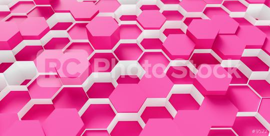 bright pink Hexagon Background - 3D rendering - Illustration   : Stock Photo or Stock Video Download rcfotostock photos, images and assets rcfotostock | RC-Photo-Stock.: