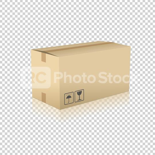 Brown carton delivery packaging box on checked transparent background. Vector illustration. Eps 10 vector file.  : Stock Photo or Stock Video Download rcfotostock photos, images and assets rcfotostock | RC-Photo-Stock.: