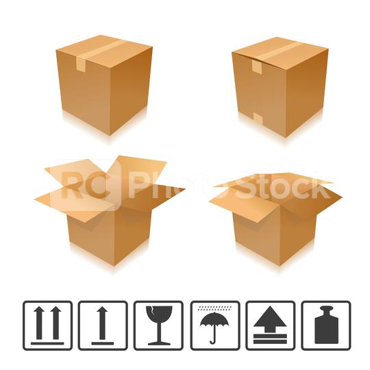 Brown closed and open carton delivery packaging box set with icons. Vector illustration. Eps 10 vector file.  : Stock Photo or Stock Video Download rcfotostock photos, images and assets rcfotostock | RC-Photo-Stock.: