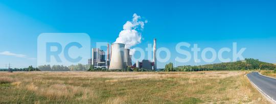 Brown coal power station panorama  : Stock Photo or Stock Video Download rcfotostock photos, images and assets rcfotostock | RC-Photo-Stock.: