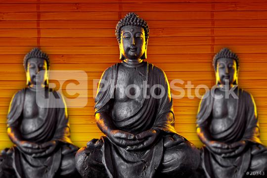 Buddha statue with glow against black background  : Stock Photo or Stock Video Download rcfotostock photos, images and assets rcfotostock   RC-Photo-Stock.: