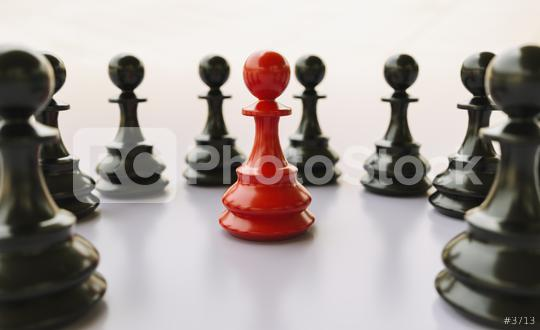 bullying; concept, red pawn of chess, standing out from the crowd of blacks  : Stock Photo or Stock Video Download rcfotostock photos, images and assets rcfotostock | RC-Photo-Stock.: