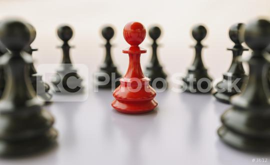 bullying concept, red pawn of chess, standing out from the crowd of blacks  : Stock Photo or Stock Video Download rcfotostock photos, images and assets rcfotostock | RC-Photo-Stock.: