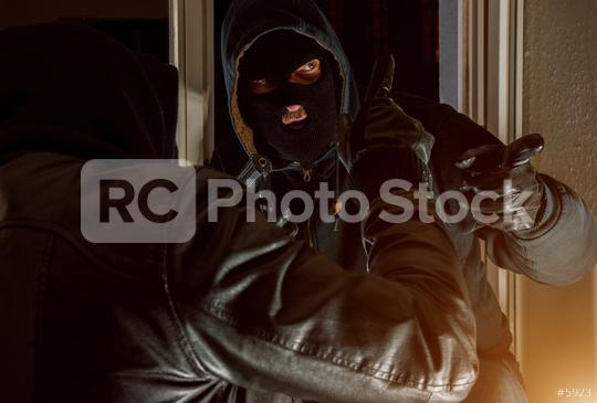 Burglar Team organize housebreaking at night  : Stock Photo or Stock Video Download rcfotostock photos, images and assets rcfotostock | RC-Photo-Stock.: