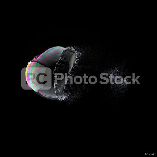 burst Soap Bubble in colorful colors on black background  : Stock Photo or Stock Video Download rcfotostock photos, images and assets rcfotostock | RC-Photo-Stock.: