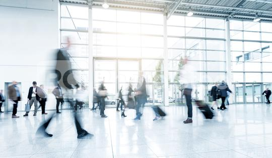 business people at a trade fair abstract motion blur  : Stock Photo or Stock Video Download rcfotostock photos, images and assets rcfotostock | RC-Photo-Stock.: