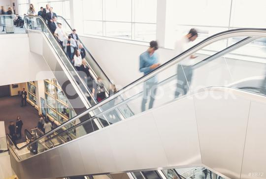 business people crowd at an escalator  : Stock Photo or Stock Video Download rcfotostock photos, images and assets rcfotostock | RC-Photo-Stock.: