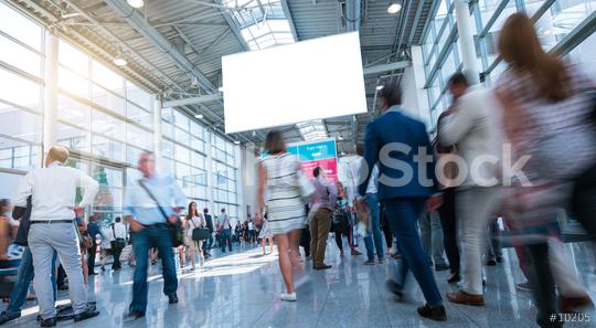 Business People Walking on trade fair  : Stock Photo or Stock Video Download rcfotostock photos, images and assets rcfotostock | RC-Photo-Stock.: