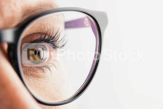 Businesswoman eye with glasses close-up  : Stock Photo or Stock Video Download rcfotostock photos, images and assets rcfotostock   RC-Photo-Stock.: